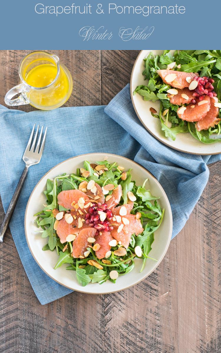 Pomegranate Grapefruit Winter Salad